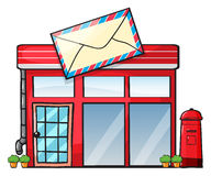 A post office. Illustration of a post office on a white background Royalty Free Stock Image