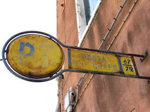 Post office. Old post office sign in Venice Royalty Free Stock Photography