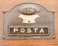 Post office box cover Royalty Free Stock Photos