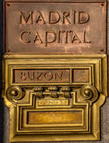 Post office box in Madrid Stock Image