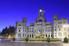Post Office Building at Cibeles Square at morning Royalty Free Stock Images