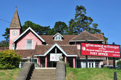 Post office building in the city of Nuwara Eliya Royalty Free Stock Images