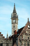 Post Office building with the clock tower in Ghent Stock Photos
