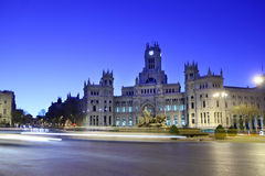 Post Office Building and fountian at Cibeles Square Stock Images