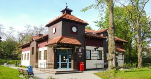Post office building in Krynica Morska. Polish Post office building located in Krynica Kahlberg in Poland. Photo taken in May 2008 Royalty Free Stock Image