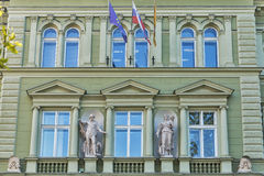Post Office building in Maribor, Slovenia royalty free stock photography