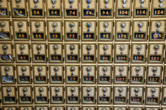 Free Post Office Combination Lock Boxes Stock Photography - 27599442