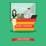 Post office concept vector illustration in flat style. Stock Photos