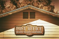Post Office in Death Valley Stock Photography