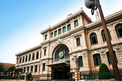Post Office designed by Gustave Eiffel, Ho Chi Minh City, Vietnam Royalty Free Stock Photos