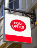 Post Office in England. A Post Office sign in an English town Stock Image