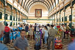 Post office ho chi minh Stock Image