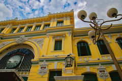 Post Office Ho Chi Minh City. Front of the post office built by the French in 1886 in what is now Ho Chi Minh City formally known as Saigon stock images