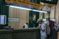 Post office in ho chi minh city,vietnam Royalty Free Stock Photography