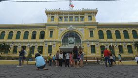 Post office in Ho Chi Minh - timelapse stock footage