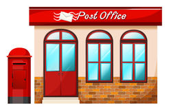 Post office. Illustration of a Post office on a white background Stock Photography
