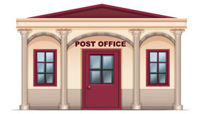 A post office. Illustration of a post office on a white background Royalty Free Stock Photo