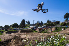 Post Office Jumps. The Post Office jumps at the Santa Cruz Mountain Bike Festival in Aptos, CA Stock Image