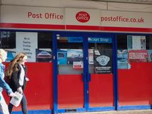UK Post Office branch royalty free stock photo