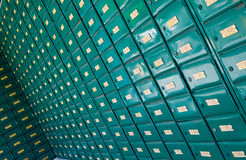 Post office mail boxes Royalty Free Stock Images