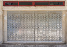 Post office mail boxes Stock Photography
