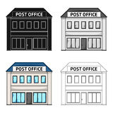 Post office.Mail and postman single icon in cartoon style vector symbol stock illustration web. Post office.Mail and postman single icon in cartoon style vector stock illustration