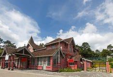 Post Office, Nuwaraeliya, Sri Lanks. Red post office building at Nuwaraeliya, Sri Lanka on sunny day royalty free stock images