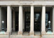Post Office Portico Stock Photos
