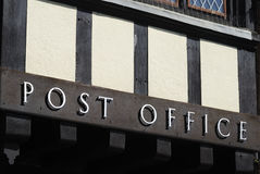 Post Office sign. Arundel. Sussex. UK Royalty Free Stock Photography
