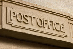 Post Office sign Stock Photos