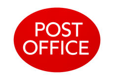 Post office sign Royalty Free Stock Photo