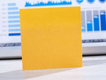 Post it on office table Stock Image