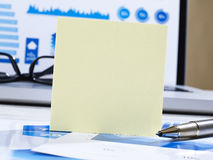 Post it on office table Stock Photography