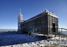 Post office on the top of the mountain Snezka. Stock Image