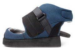 Post operative heel off-loading shoe stock photos
