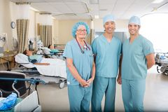 Post Operative Unit in Hospital. Medical team in post op ward in Hospital stock photography