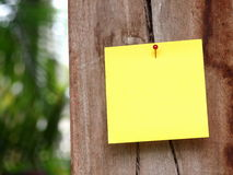 Post-it outdoor Stock Photography