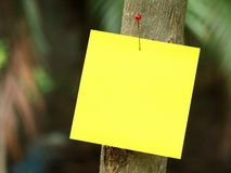 Post-it outdoor Stock Image