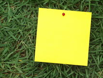 Post-it outdoor Royalty Free Stock Photo