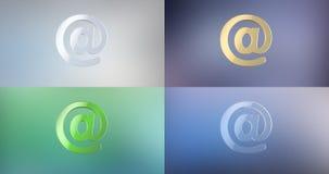 Post på symbolen för tecken 3d royaltyfri illustrationer