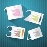 Postępów kroki dla Tutorial, Infographics Ilustracji