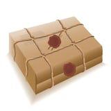 Post pakket. Vector. Stock Afbeelding
