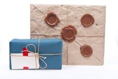 Post pakketten Stock Foto's