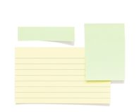 Post it papers isolated over background Stock Images