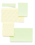 Post it papers isolated over background Royalty Free Stock Photography