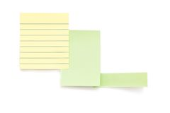 Post it papers isolated over background Royalty Free Stock Images