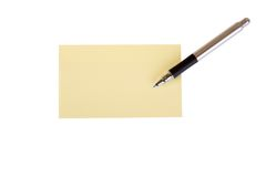 Post it and pen Stock Photo