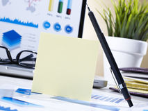 Post it and pencil Stock Photography