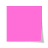 Post it. Pink post it isolated on a white background Stock Photos