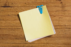 Post it with plastic clip. Stock Images